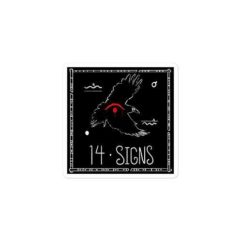 Episode 14 - Signs - 3x3 Sticker