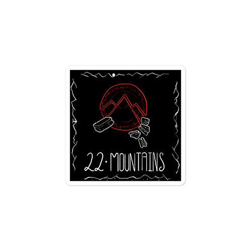 Episode 22 -  Mountains - 3x3 Sticker