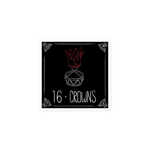 Episode 16 -  Crowns - 3x3 Sticker