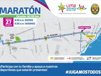 Maratón Lima 2019: Cierre de vías para este sábado