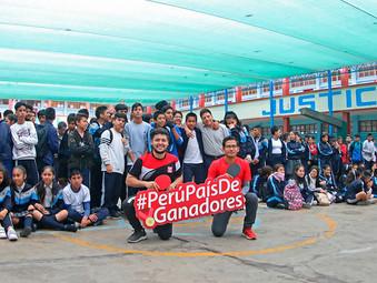 Deportistas Top Perú del IPD visitaron colegio en La Victoria