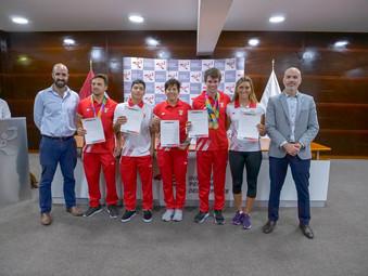 Medallistas de los Juegos Suramericanos de Playa recibieron reconocimiento por parte del IPD