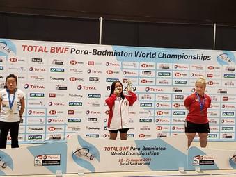Giuliana Poveda se corona como campeona mundial de Para bádminton