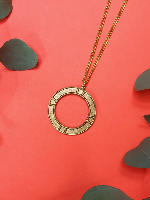 Nicole Weldon Vintage Brass Necklace