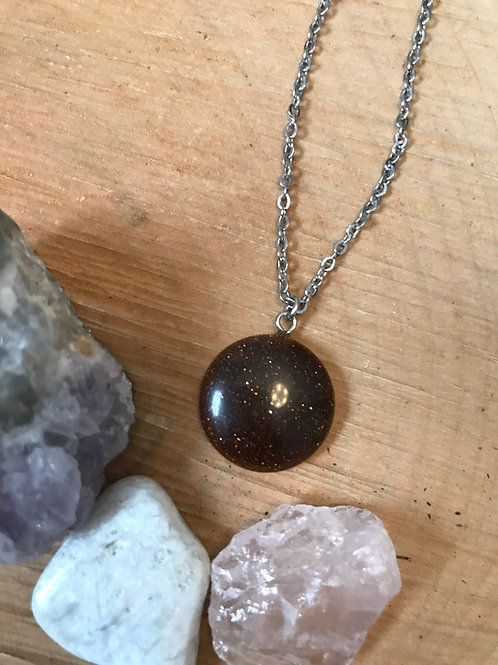 Nicole Weldon Glitter Stone Necklace