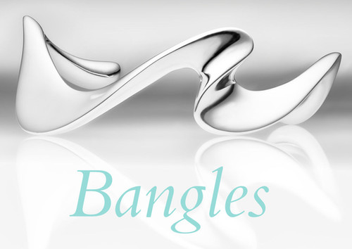 Bangles in Silver, Gold and Platinum by Sarah Jordan Jewellery
