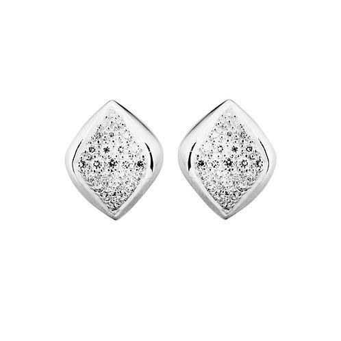 White Gold Aspect Earrings