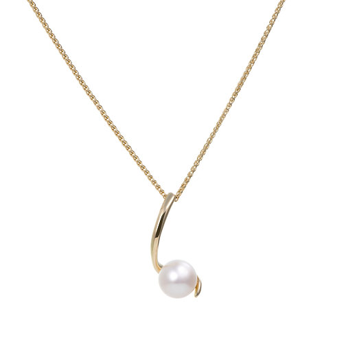 Dainty Pendant with Freshwater Pearls