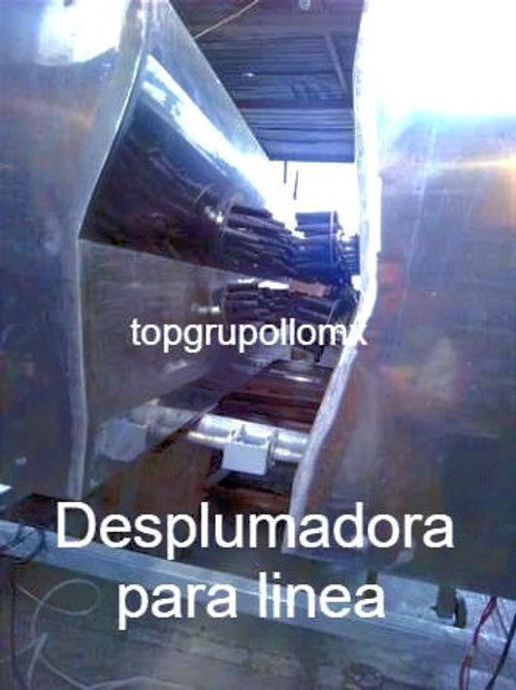 MAQUINA DESPLUMADORA PARA LINEA AUTOMATIZADA