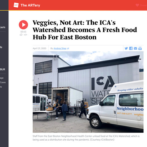 """Resilience and the ICA/Boston's Watershed: """" Veggies, Not Art"""""""