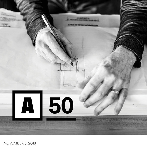 AW ranked 6th in Design for this year's Architect 50
