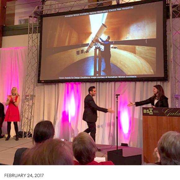 Gemma Observatory wins Award for Design Excellence at BSA Design Awards Gala