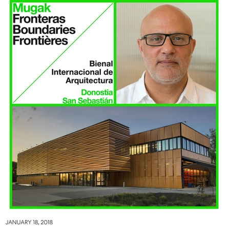 Alex Anmahian to give lecture at the MUGAK International Architecture Biennial in San Sebastian.