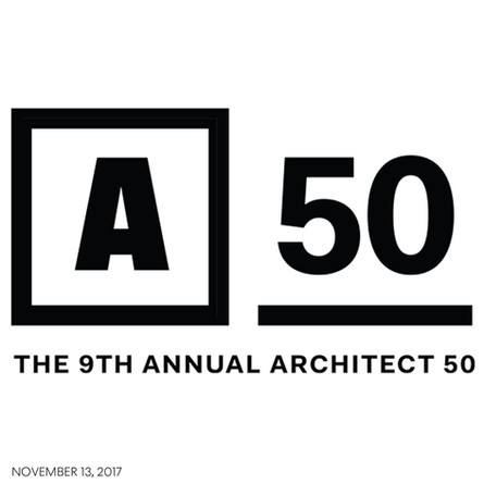 AW ranked in Top 10 for Design in this years ARCHITECT 50