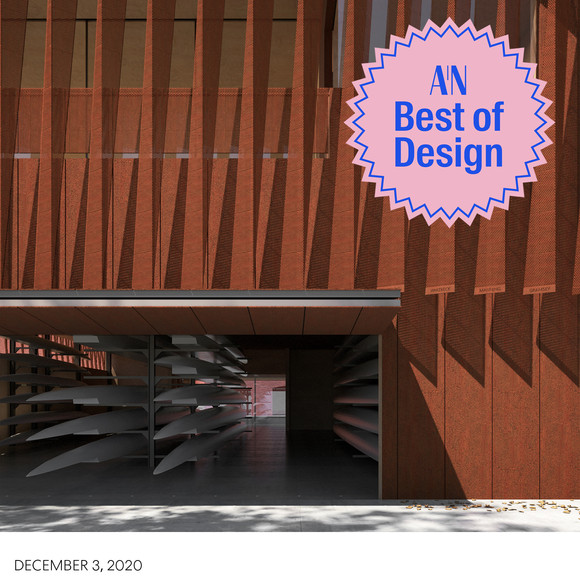 Mystic River Boathouse wins Editors Pick for Unbuilt Public Project from the 2020 AN Best of Design Awards