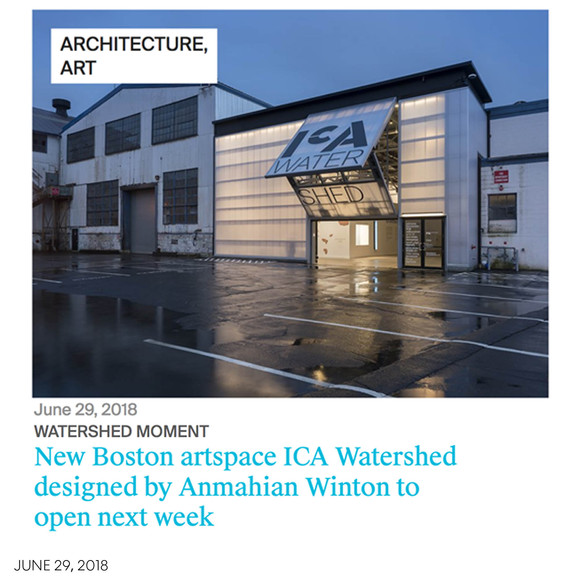 The Architects' Newspaper gives detailed preview of AW's newest project, the ICA Watershed, open to the public on July 4th