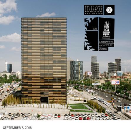 Ankara Office Tower wins 2018 International Architecture Award