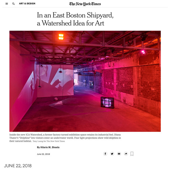 The New York Times previews AW's Watershed project for the ICA/Boston