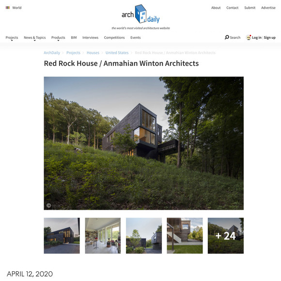 Red Rock House featured on ArchDaily