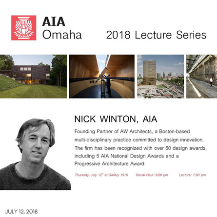 Nick Winton discusses AW's work and the boundaries of design as part of the AIA Omaha 2018 Lecture Series