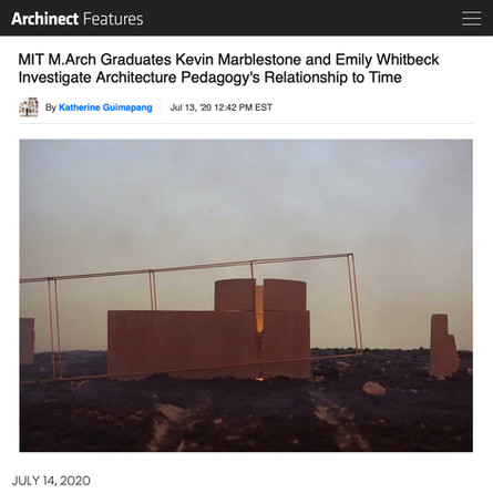 Thesis project co-authored by AW's Emily Whitbeck featured on Archinect
