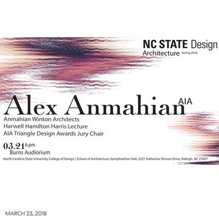 Alex Anmahian delivers Harrell Hamilton Harris Architecture Lecture at North Carolina State University