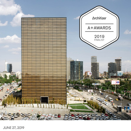 Ankara Office Tower a finalist for the Architizer A+ Awards