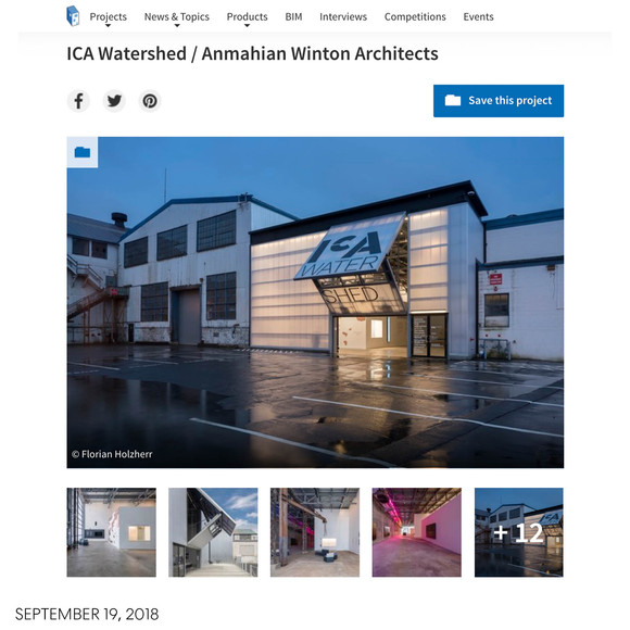 ICA Watershed featured on ArchDaily