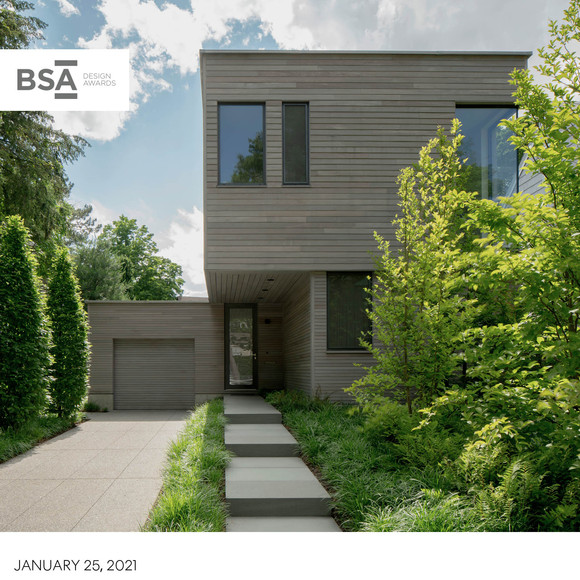 Courtyard House wins Award from the 2020 BSA Residential Design Awards
