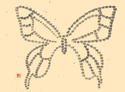 額装「蝶」