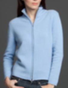 Women's Thick Cashmere Zip Cardigan