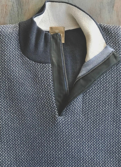 Highest Quality Italian Cashmere Zip Mock