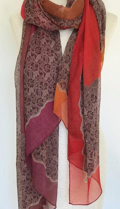Women's Italian Silk Chiffon Scarf