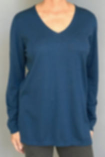 Women's Cashmere/Silk Long Pullover