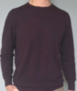 Men's Cashmere/Silk Piquet Stitch Crew