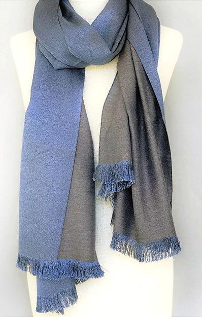 Cashmere/Silk Fine Weave Reversible Shawl