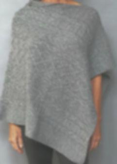 Aran Stitch Cashmere Poncho