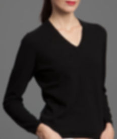 Women's High Quality Cashmere V-Neck Pullover