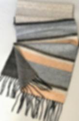 Cashmere/Silk Striped Reversible Scarf