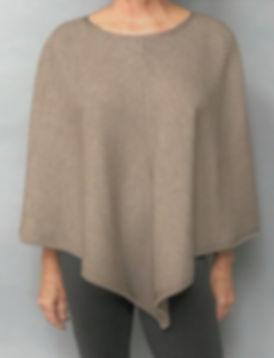 Women's Merino/Silk Short Poncho