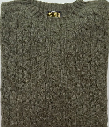 Cashmere Cabled Roundneck