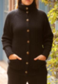 Women's Thick Cashmere Long Jacket Cardigan