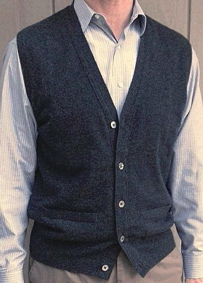 Men's Cashmere Cardigan Vest