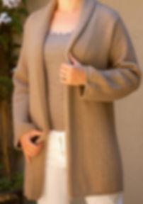 Women's High Quality Cashmere Coaat Sweater