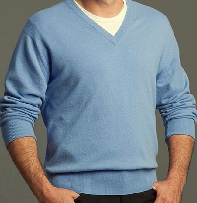 Men's Highest Quality Cashmere V-Neck Pullover