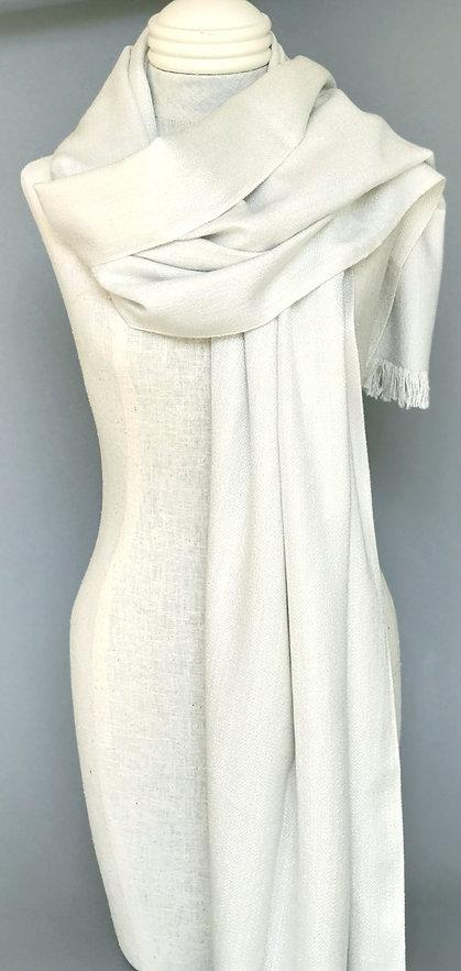 Handwoven Cashmere/Silk/Lurex Shawl