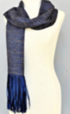 Handwoven ribbon silk scarf
