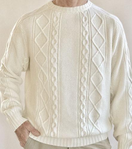 Italian Cashmere Italian Aran Stitch Pullover