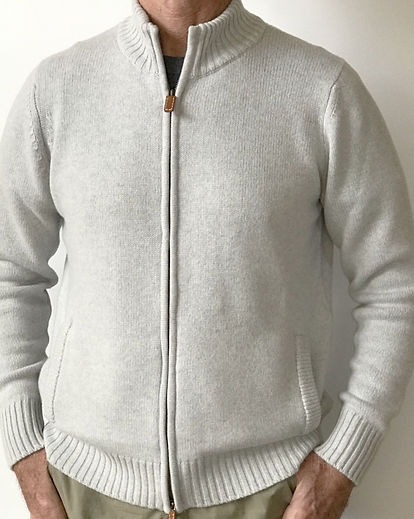 Men's Quality Cashmere Zipped Cardigan