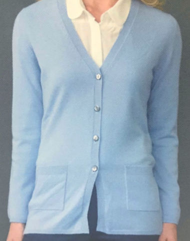 Women's Cashmere V-Cardigan with pockets